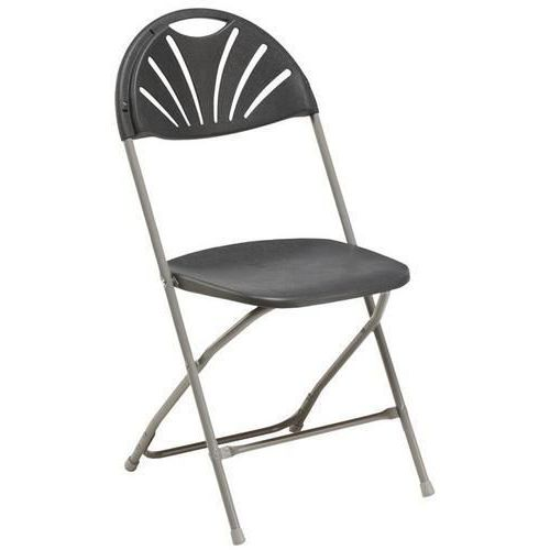 Folding Outdoor Chairs - Steel Frame & Curved Back - 10 Pack - Globe
