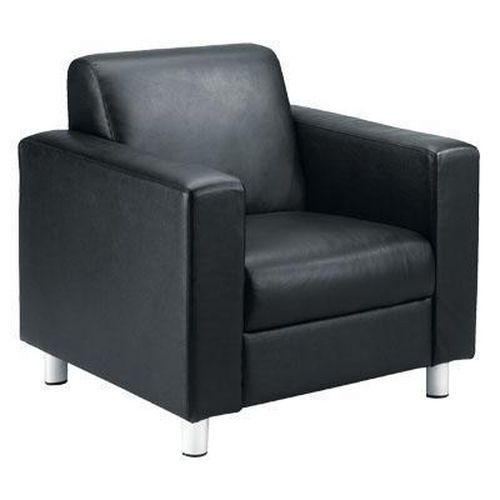 Black Leather Reception Chairs