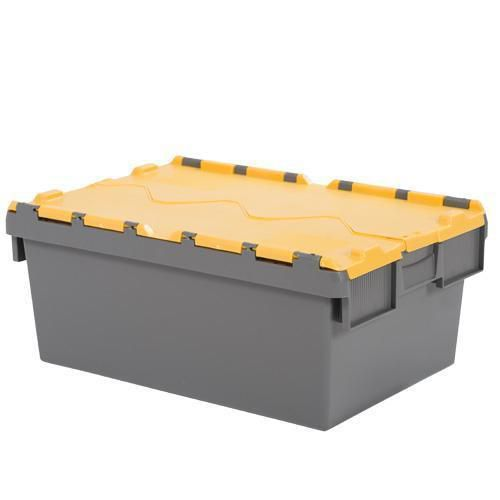 Tote Boxes with Coloured Lids