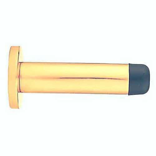 Concealed Fixing Projection Door Stop - 70mm - Polished Brass