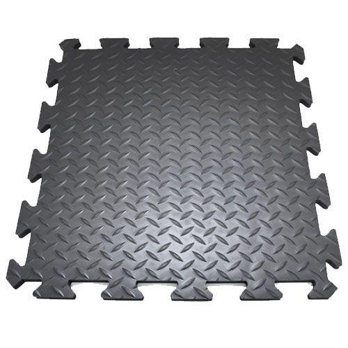 Anti-Fatigue Interlocking Deckplate Diamond Tread Mats