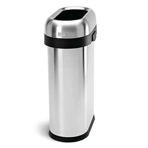 Brushed Steel Open Slim Bin- 50 L