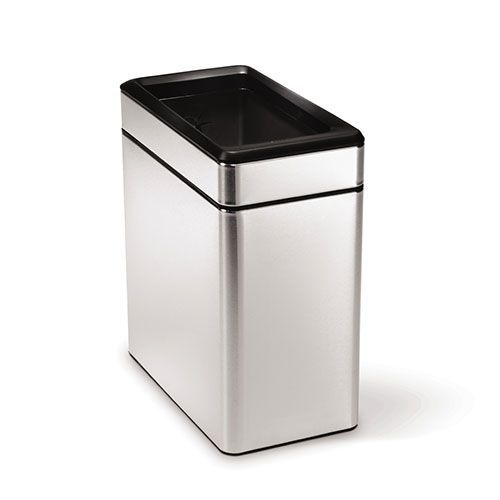Brushed Steel Open Profile Bin- 10 L