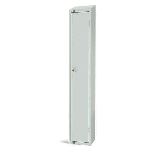 Elite Antibacterial Lockers - Single Door - Sloping Top & Cylinder Lock - 1950x300x450mm