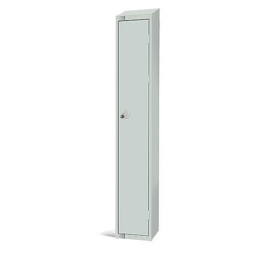 Elite Antibacterial Lockers - Single Door - Sloping Top & Hasp Lock - 1950x450x450mm