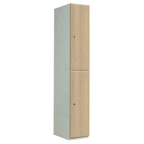 Wood Effect Laminate Lockers 2 Door - 1800x300x450mm
