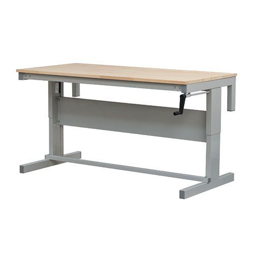 Fabulous Height Adjustable Ergonomic Workbench 730 950X1800 Wooden Top Andrewgaddart Wooden Chair Designs For Living Room Andrewgaddartcom