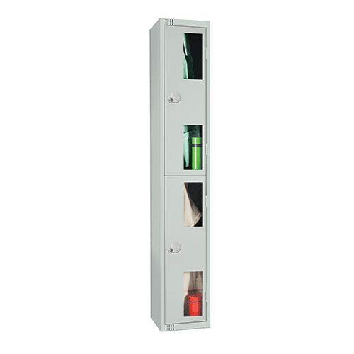 2 Door Vision Panel Locker 1800x300x300mm Cylinder Lock