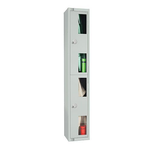 2 Door Vision Panel Locker 1800x300x450mm Cylinder Lock