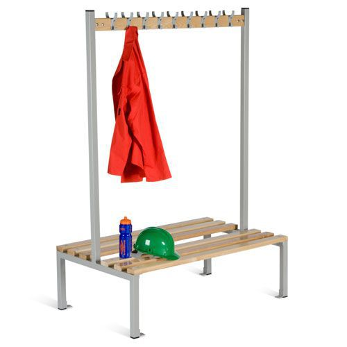 Locker Double Sided 9 Hook Bench Seat