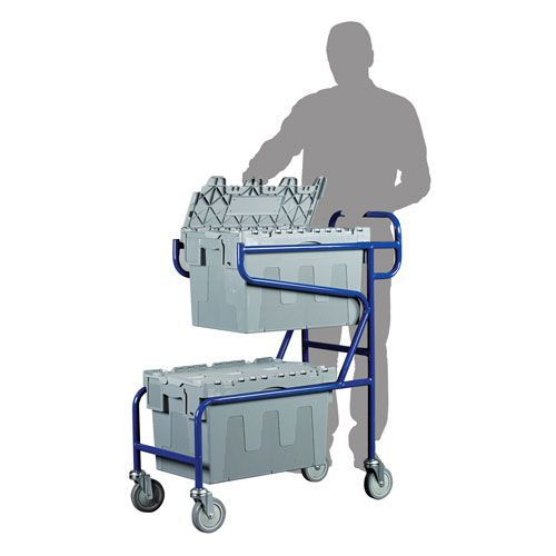 Double Container Trolley for Euro Containers
