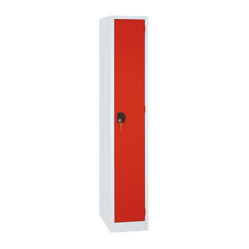 Manutan Single Door Red Locker - 1800x315x500mm
