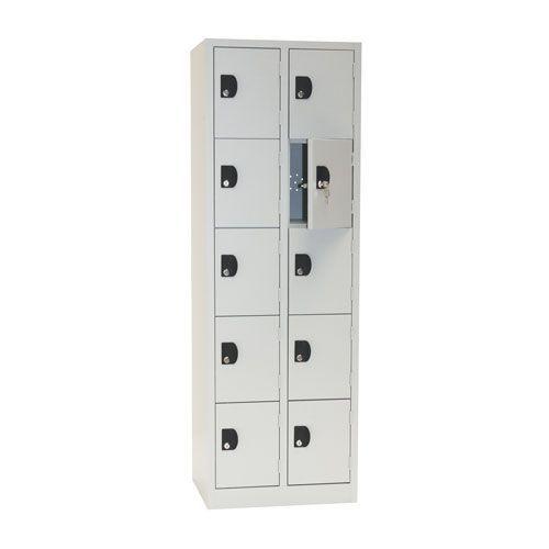 Manutan Nest of 2 Five Door Lockers - 1800x600x500mm
