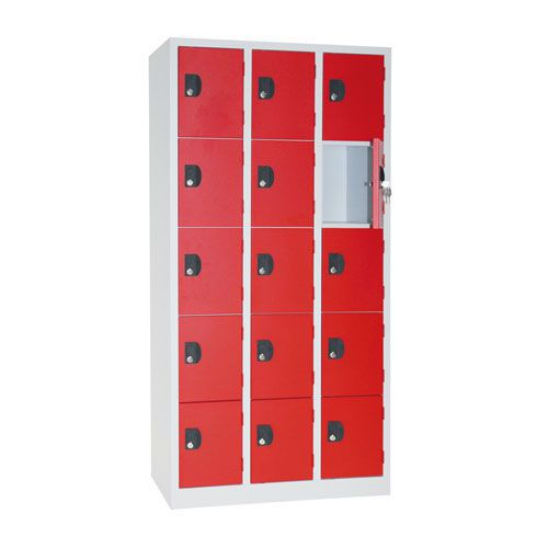 Manutan Nest of 3 Five Door Lockers - 1800x885x500mm