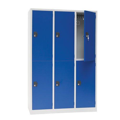 Manutan Nest of 3 Two Door Lockers - 1800x1185x500mm