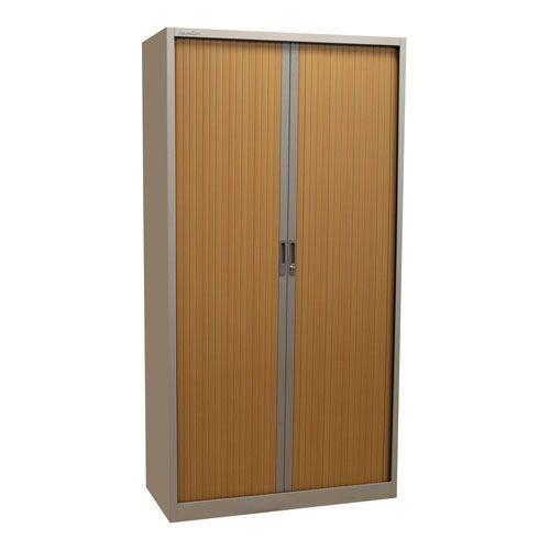 Tambour Door Cupboard 1950x1200mm Light Grey Free Delivery Key
