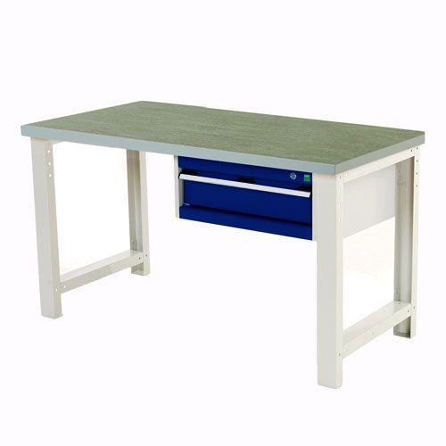 Bott Cubio Industrial Workbench with Single Drawer & Lino Top