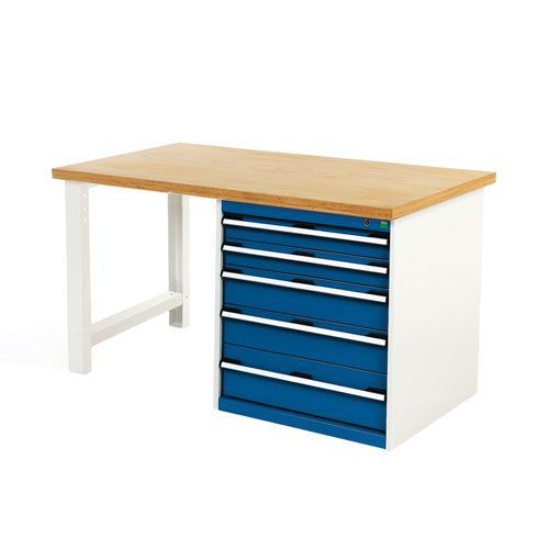 Bott Cubio Workbench with 5 Drawers & MPX Worktop
