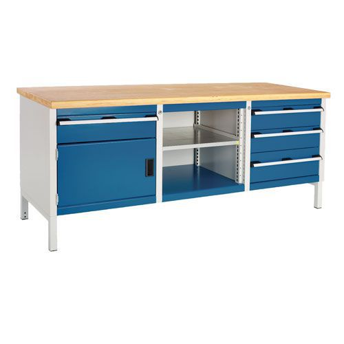 Bott Cubio Workbench with 4 Drawers 1 Cupboard & 1 Shelf