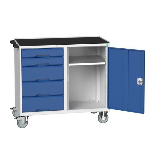 Bott Verso Mobile Workbench with Cupboard & 5 Drawers