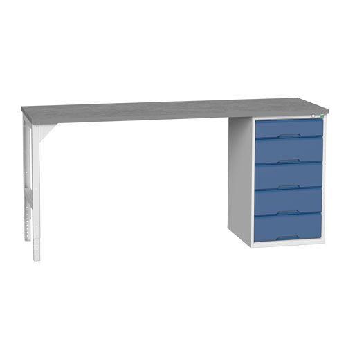 Bott Verso Industrial Workbench With 5 Drawers HxWxD 930x2000x600mm