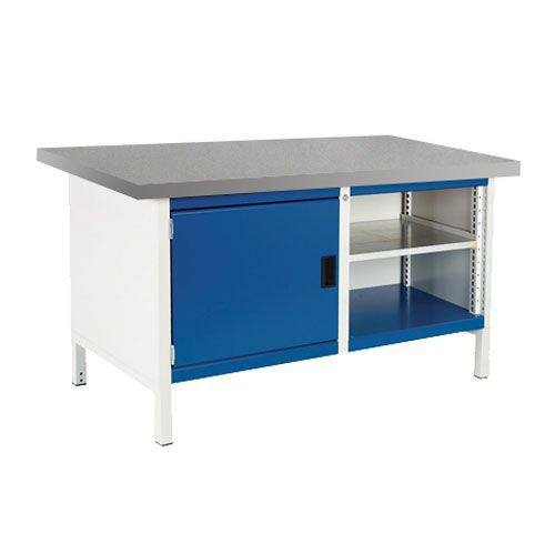 Bott Cubio Heavy Duty Workbench With Cabinet Shelves & Lino Top 840x1500x750mm