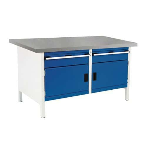 Bott Cubio Heavy Duty Workbench With Lino Top Drawers and Cabinet 840x1500x750mm