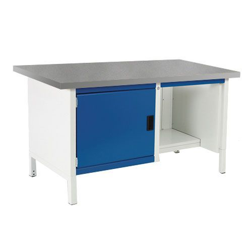 Bott Cubio Heavy Duty Workbench With Lino Top & Shelves 840x1500x750mm