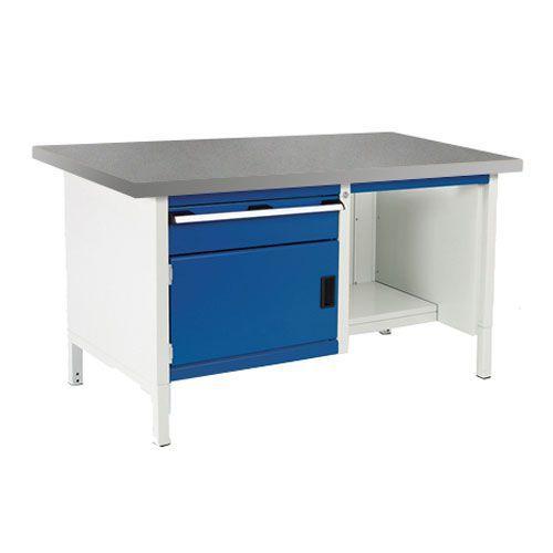 Bott Cubio Heavy Duty Workbench With Lino Top Shelf and Drawer 840x1500x750mm
