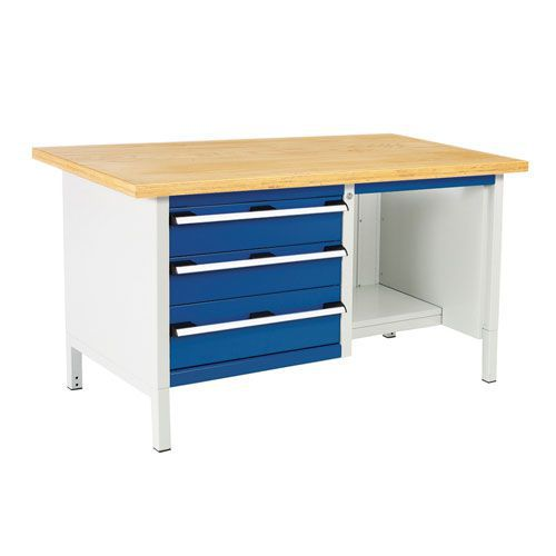 Bott Cubio Heavy Duty Workbench With MPX Top Shelves and Drawers 840x1500x750mm