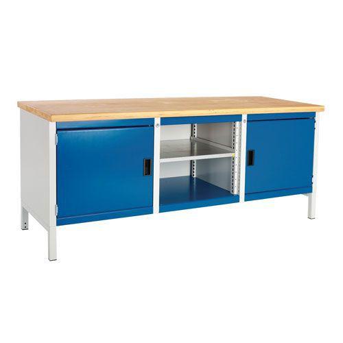 Bott Cubio Heavy Duty Industrial Workbench 2 Cabinet & MPX Top 840x2000x750mm