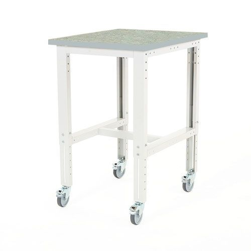 Bott Cubio Mobile Workbench With Lino Worktop HxWxD 840-1140x750x750mm