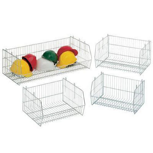 Bright Zinc Wire Display Baskets