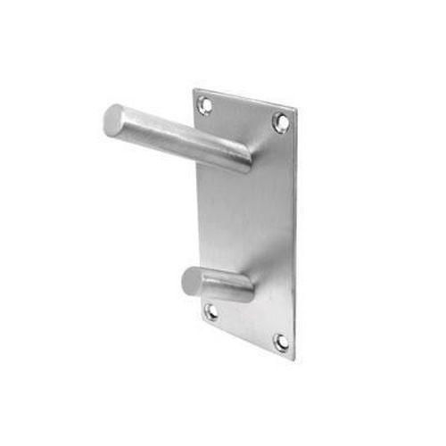 Jedo Rectangular Vertical Coat Hook Plate - Satin Stainless Steel