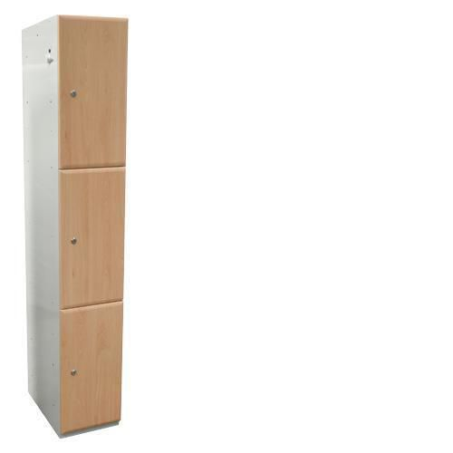 Wood Effect Laminate Lockers 3 Door - 1800x380x380mm