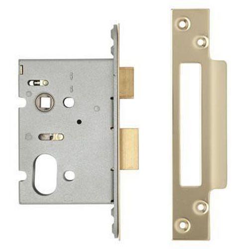 A-Spec Architectural Oval Sashlock - 76mm Case - 57mm Backset - PVD Brass