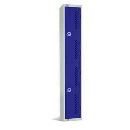 Lockers with 2 Perforated Doors - 1800x300x300mm