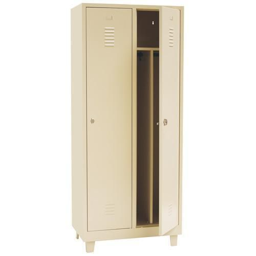 Clean and Dirty Lockers 2 Nest - Beige Body and Hasp Lock - 1900x800x500mm