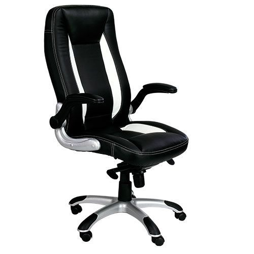 Aire High Back Black Leather Office Chair