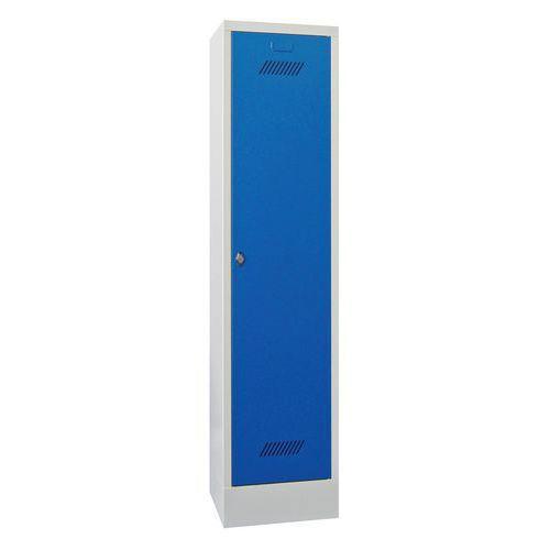 Single Locker with Plinth - Hasp Lock - 1850x330x500mm
