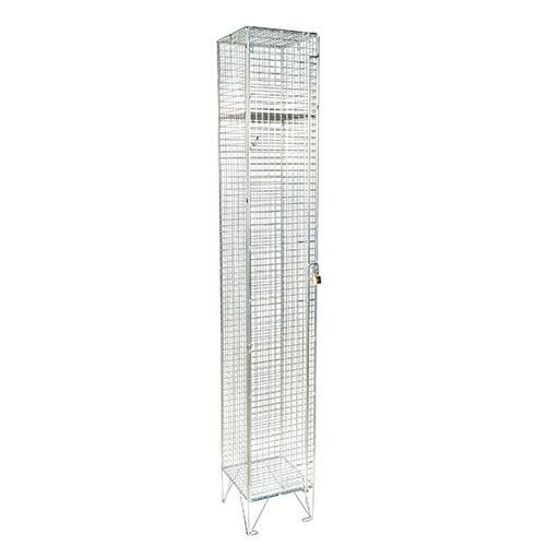 Wire Mesh Lockers Single Door - 1980x305x305mm