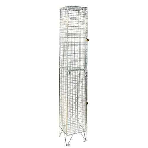 Wire Mesh Lockers 2 Door - 1980x305x305mm