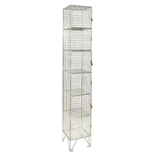 Wire Mesh Lockers 6 Door - 1980x305x305mm