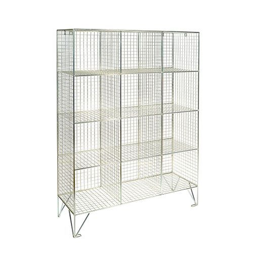 Wire Mesh Lockers 12 Compartments - 1370x910x457mm