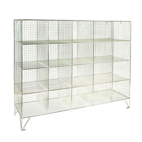 Wire Mesh Lockers 20 Compartments - 1370x1515x457mm
