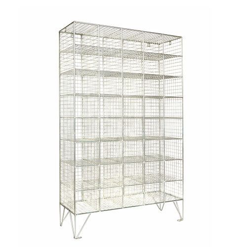 Wire Mesh Lockers 40 Compartments - 1370x830x305mm