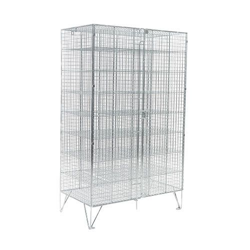 Wire Mesh Lockers 40 Compartments with Doors - 1370x830x305mm