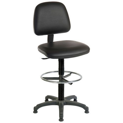 Polyurethane Draughtsman Chair with Glides