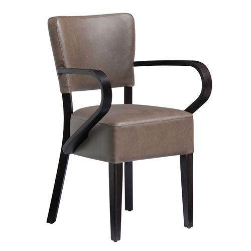 Club Vintage Leather Bistro Arm Chair
