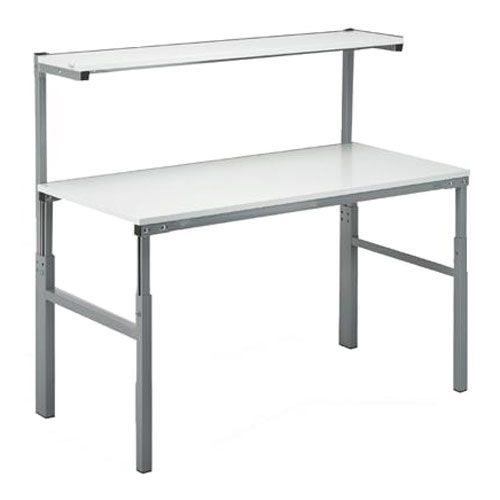 Height Adjustable Ergonomic Workbench With Upper Shelf Height 650-900mm